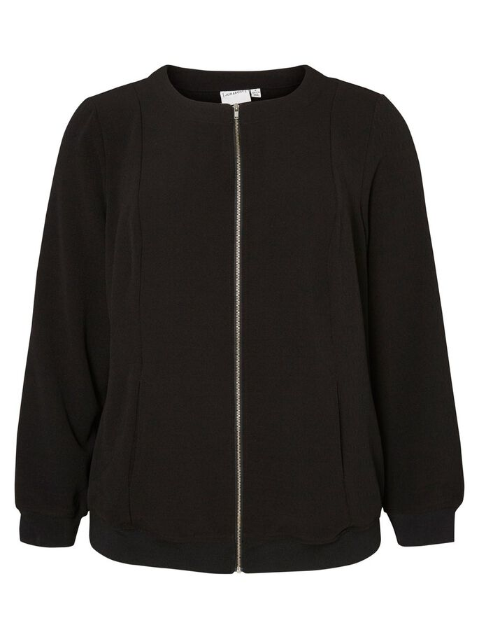 BOMBER JAS, Black, large