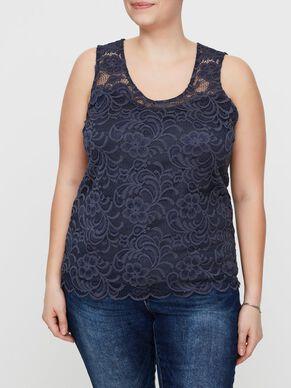 LACE DETAILED SLEEVELESS TOP
