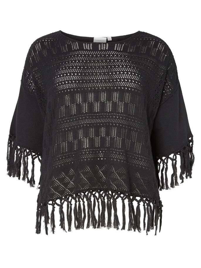 KNITTED BLOUSE, Black, large