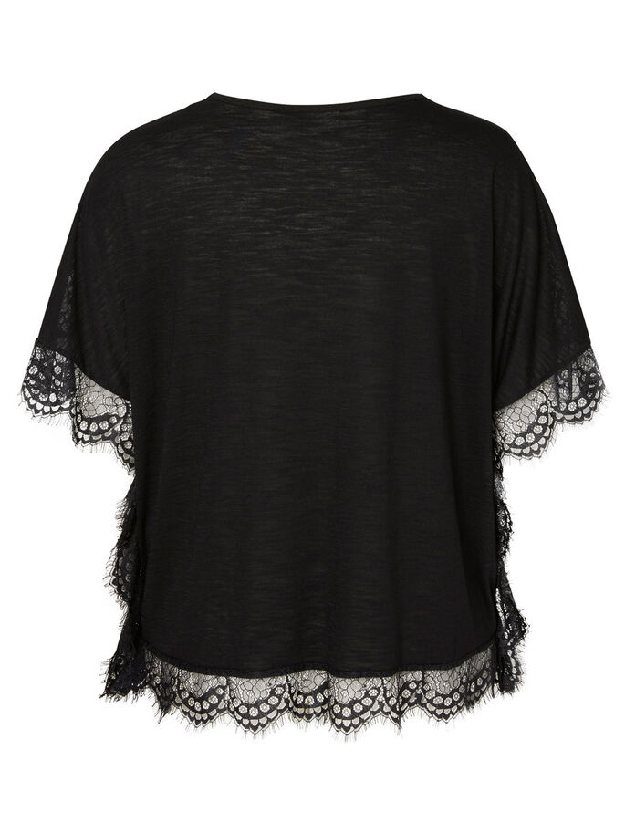 2/4 SLEEVED BLOUSE, Black, large