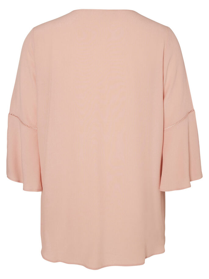 3/4 MOUW BLOUSE, Misty Rose, large