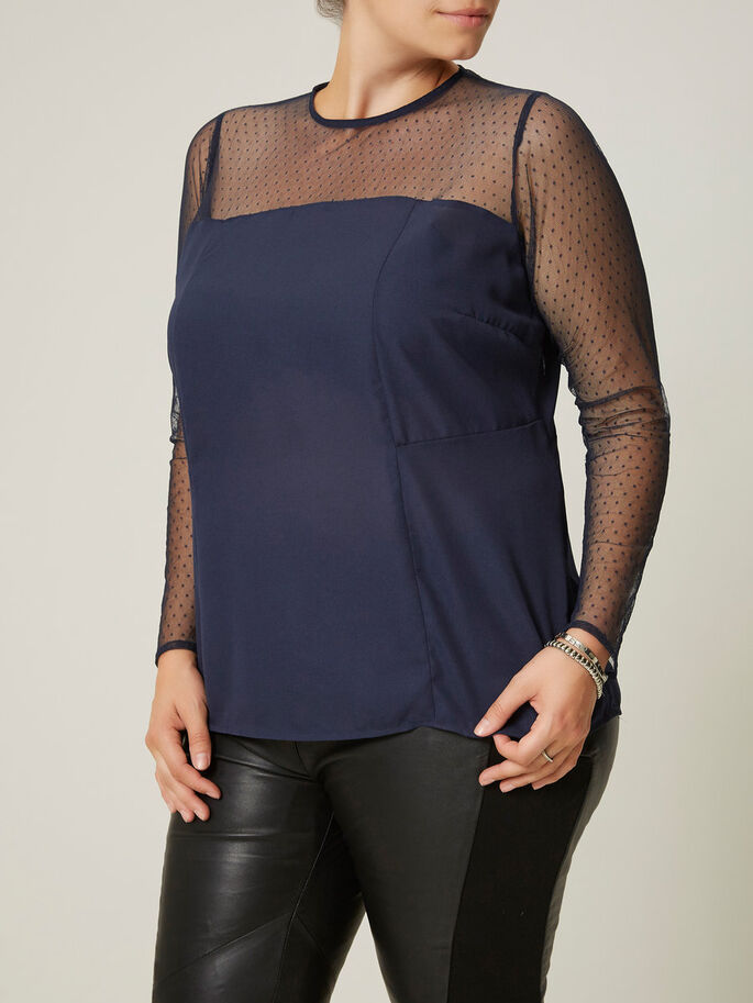 PEPLUM BLOUSE, Black Iris, large