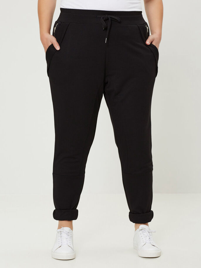 BLACK SWEAT PANTS, Black, large