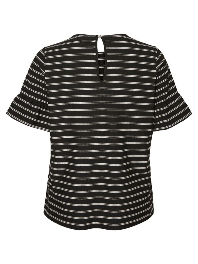 STRIPETE BLUSE MED 2/4 ERMER, Black Beauty, large