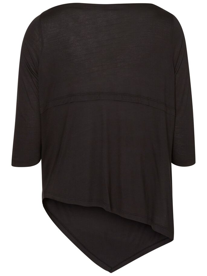 LONGUE BLOUSE, Black, large