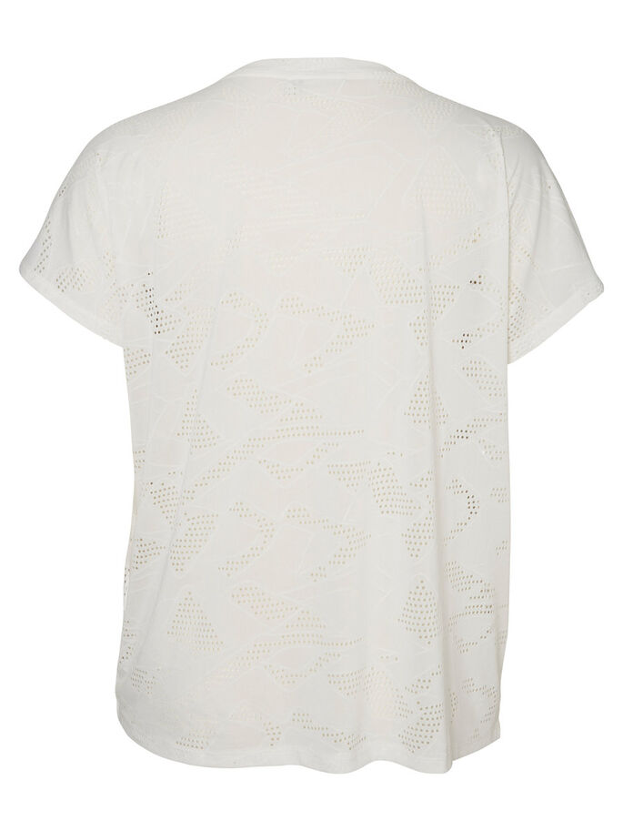 JERSEY T-SHIRT À MANCHES COURTES, Bright White, large