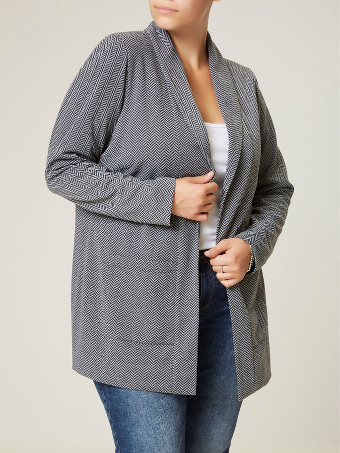 JERSEY- BLAZER, Grey, large