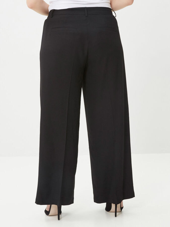 FLARE TROUSERS, Black, large