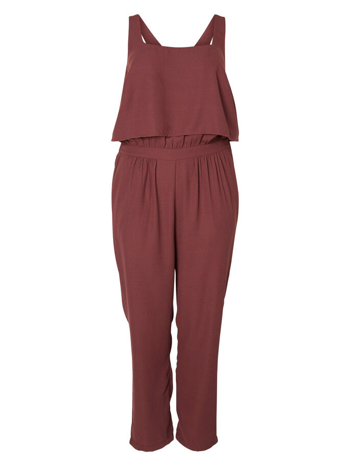 ÄRMELLOSER JUMPSUIT, Vineyard Wine, large