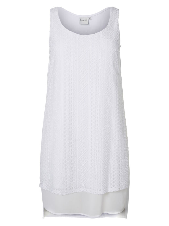 MIXET DRESS, Bright White, large