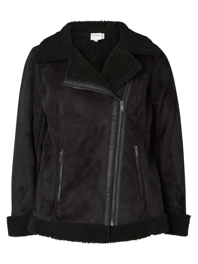 BIKER JACKET, Black, large