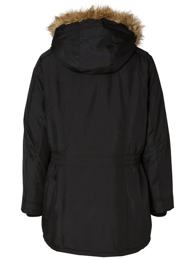 PARKA JACKET, Black, large