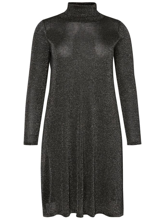 LONG SLEEVED DRESS, Black, large