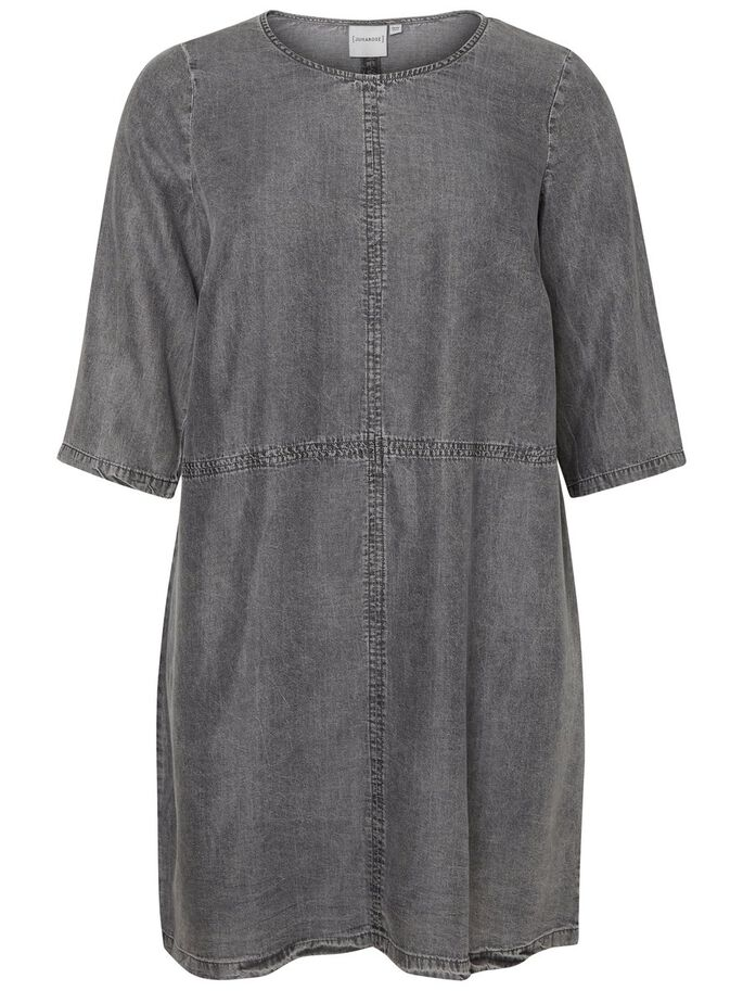MANCHES 3/4 ROBE, Grey, large