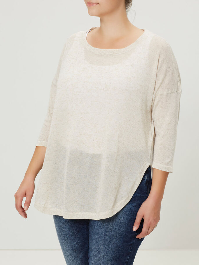 KNITTED BLOUSE, Moonbeam, large