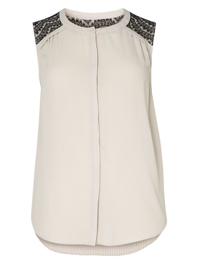 LACE DETAILED SLEEVELESS TOP, Moonbeam, large