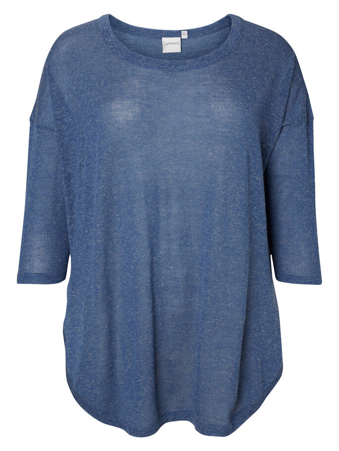 KNITTED BLOUSE, True Navy, large