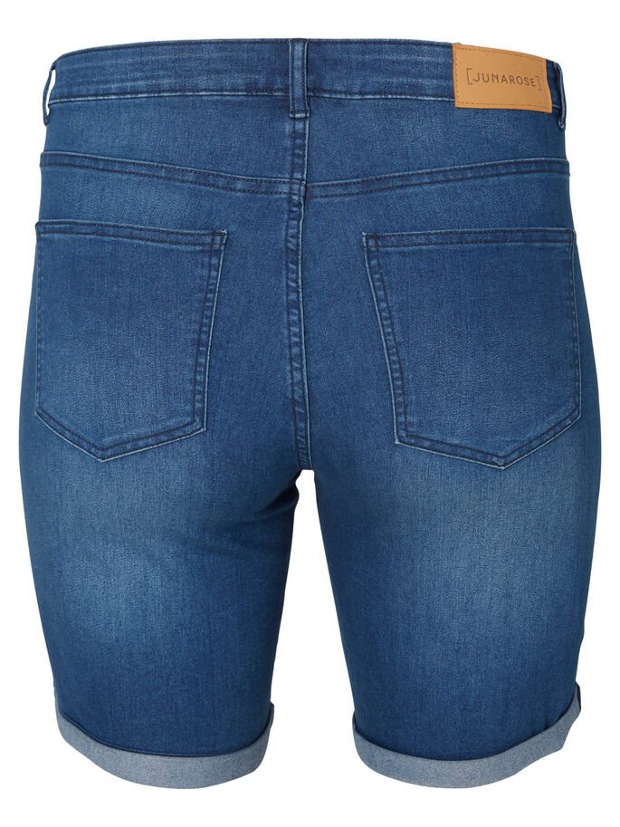 DENIM SHORTS, Medium Blue Denim, large