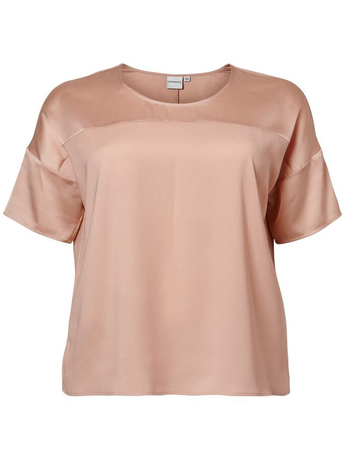 2/4 SLEEVED BLOUSE, Mahogany Rose, large