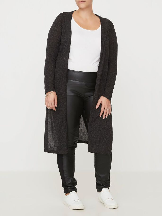 KNITTED CARDIGAN, Black, large