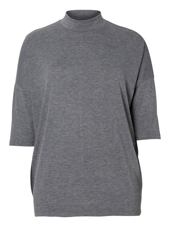 JERSEY- T-SHIRT, Medium Grey Melange, large