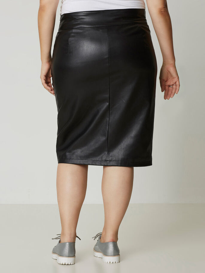 HIGH WAISTED SKIRT, Black, large