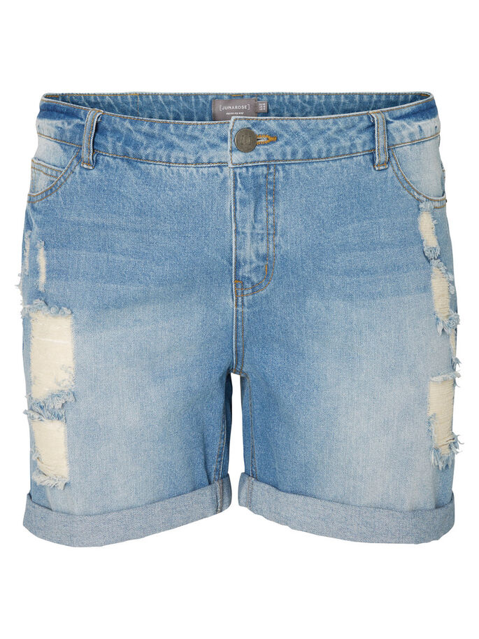 JEANS- SHORTS, Light Blue Denim, large