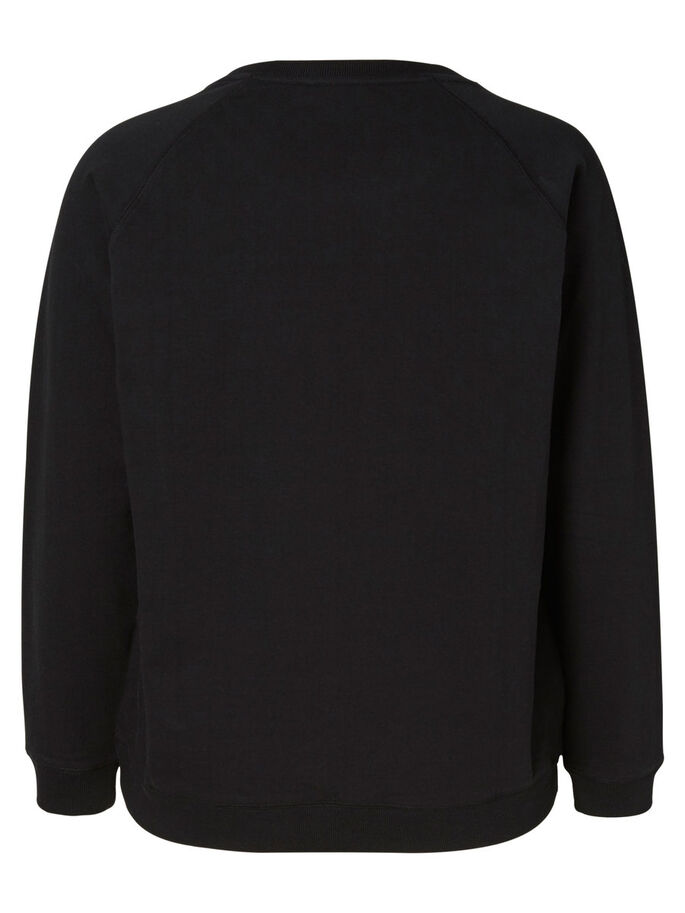 LONG SLEEVED SWEATER, Black, large