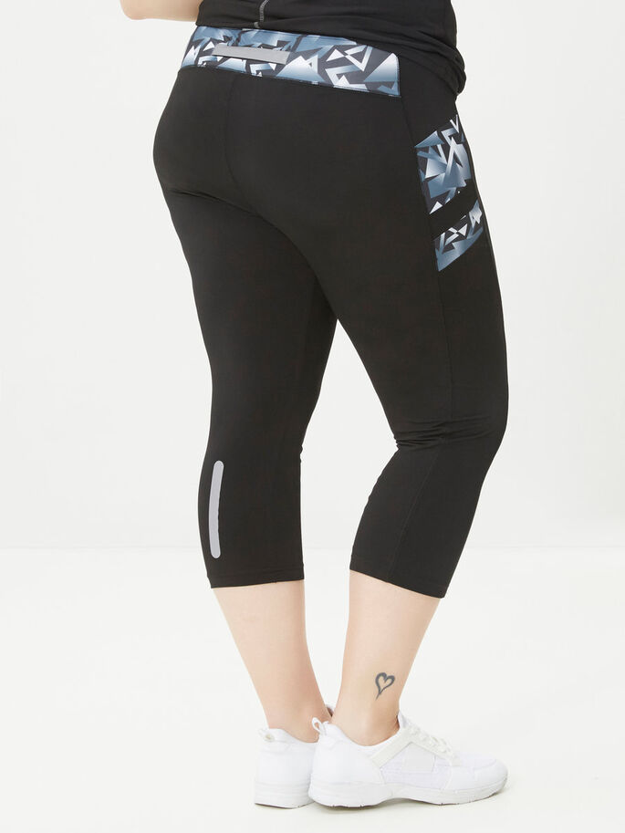 SPORTS LEGGINGS, Black, large