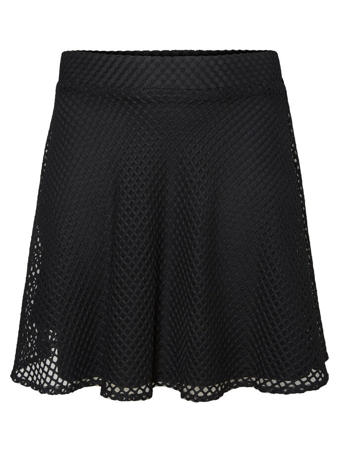 GEWEVEN ROK, Black, large
