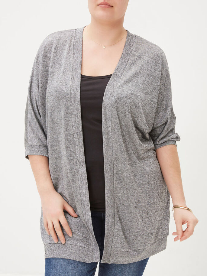 3/4 MOUW VEST, Medium Grey Melange, large