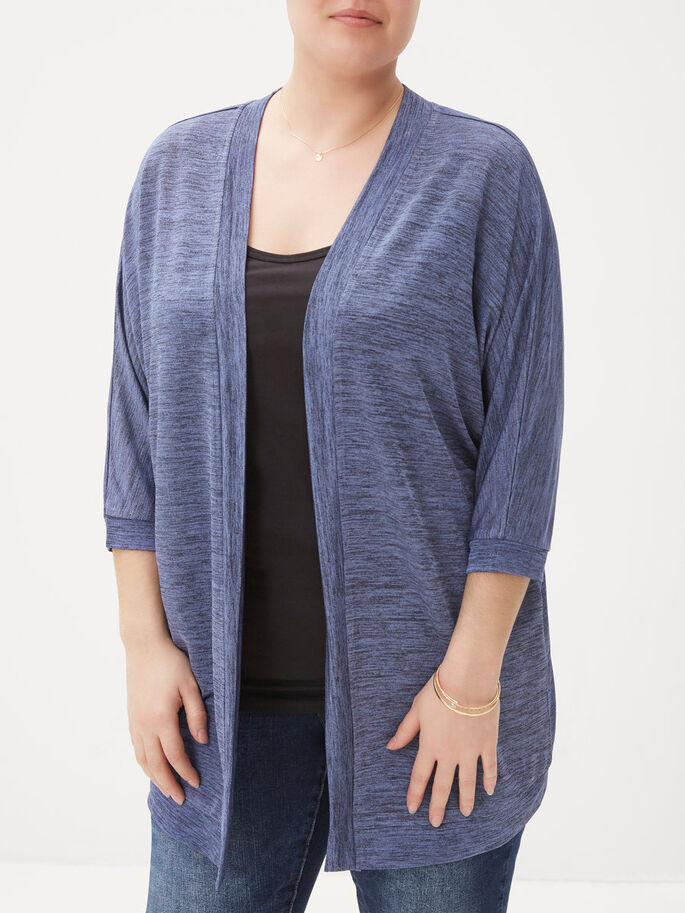 3/4 SLEEVED CARDIGAN, True Navy, large