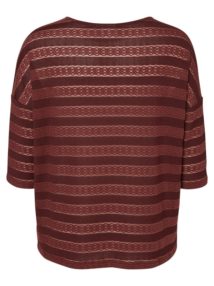 3/4 SLEEVED BLOUSE, Decadent Chocolate, large