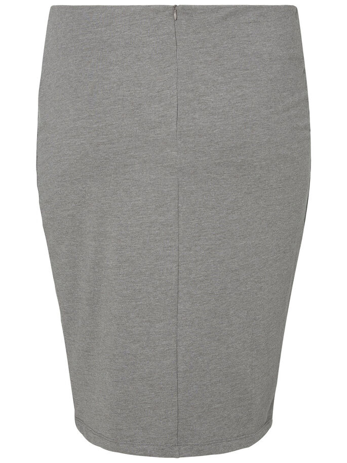 PENCIL SKIRT, Medium Grey Melange, large