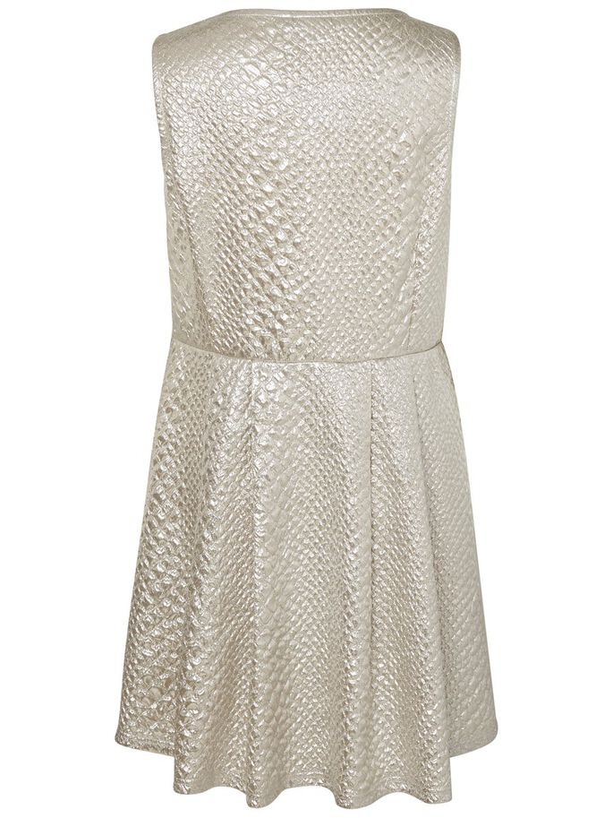 SLEEVELESS DRESS, Silver, large