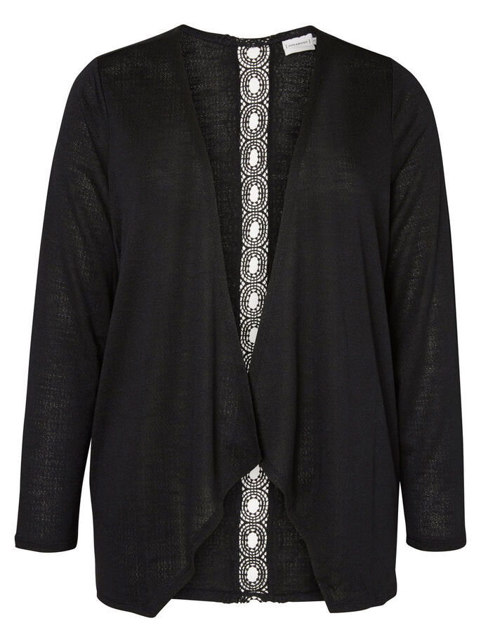 LANGÆRMET CARDIGAN, Black, large