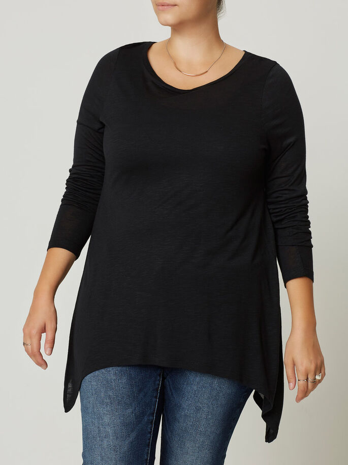 LANGE MOUW BLOUSE, Black, large