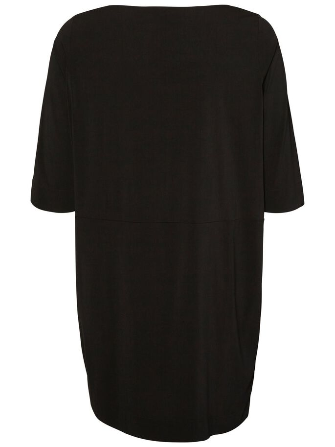 3/4-ÄRMELIGES KLEID, Black, large