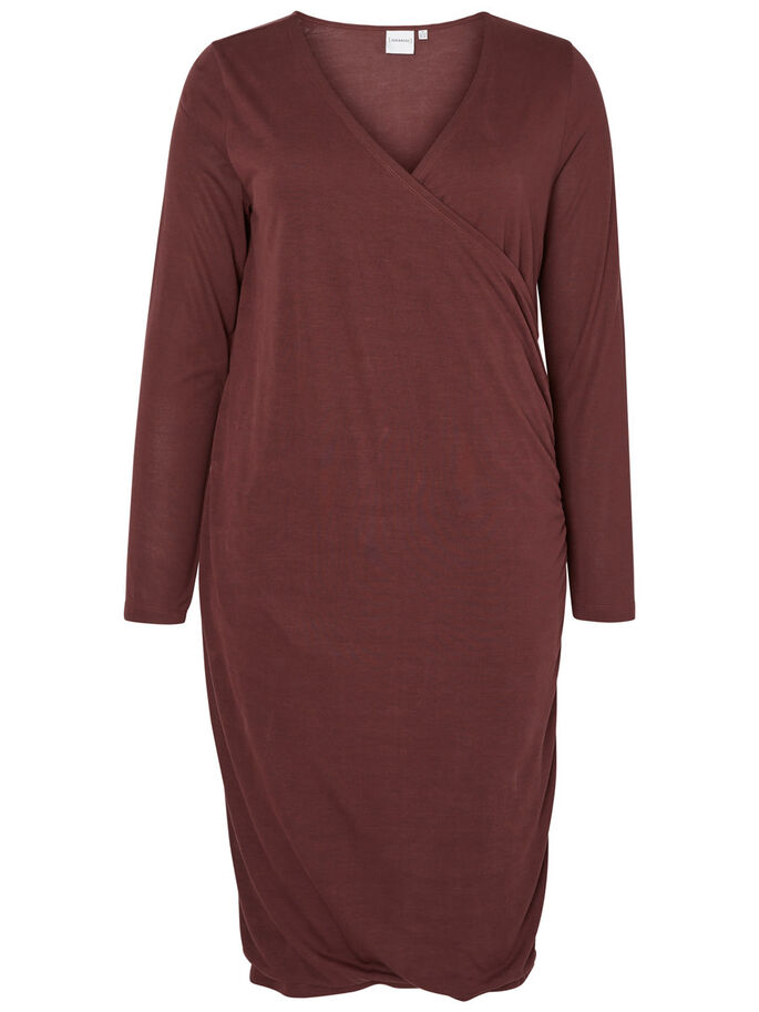 MANCHES LONGUES ROBE, Decadent Chocolate, large