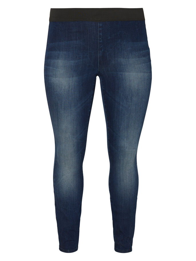 SKINNY FIT JEANS, Dark Blue Denim, large