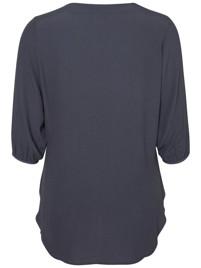 3/4 SLEEVED BLOUSE, Ombre Blue, large