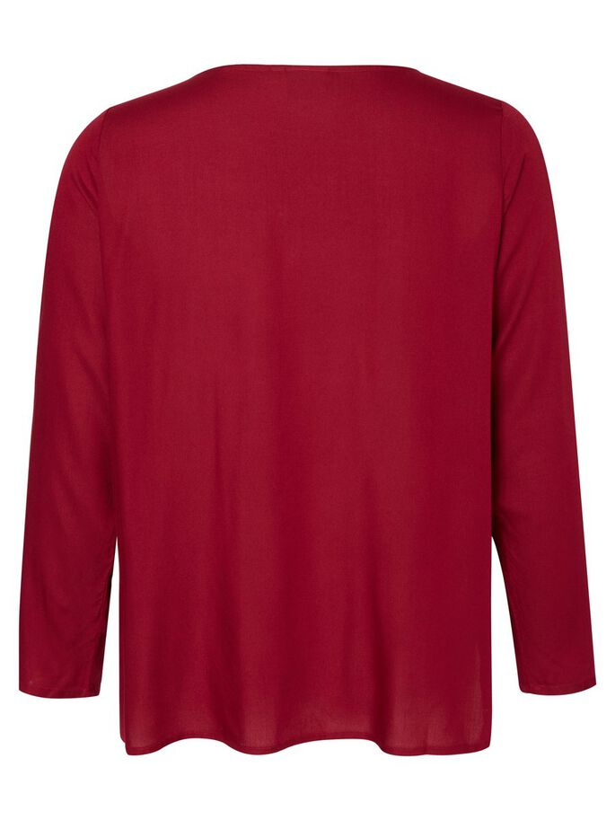 LONG SLEEVED BLOUSE, Beet Red, large