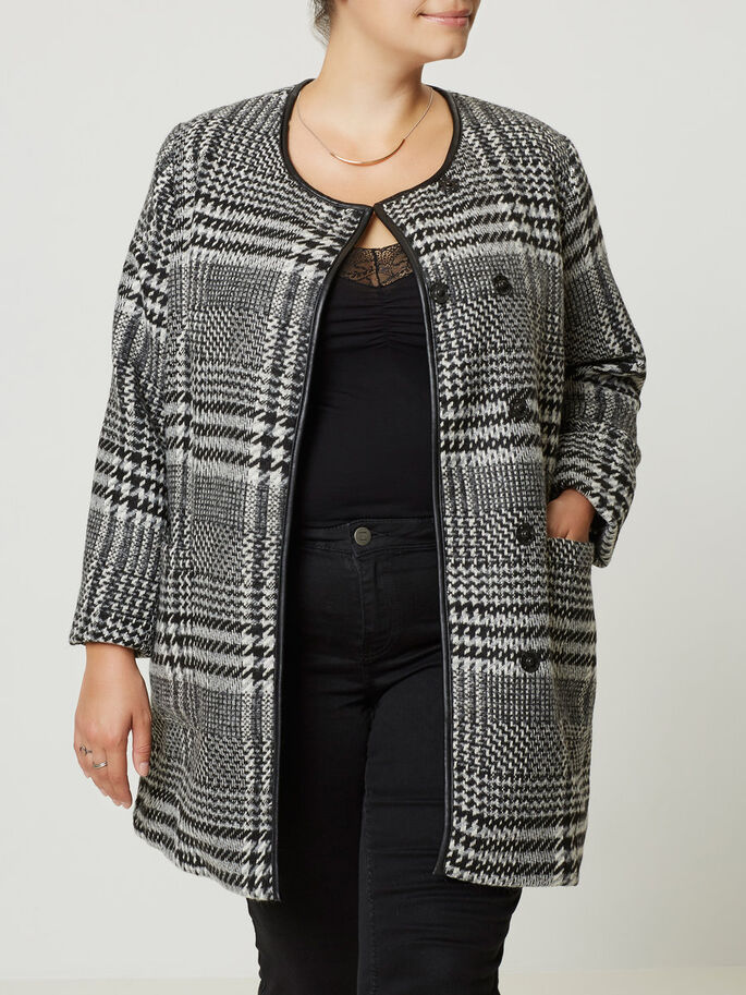 WOOL JACKET, Black, large