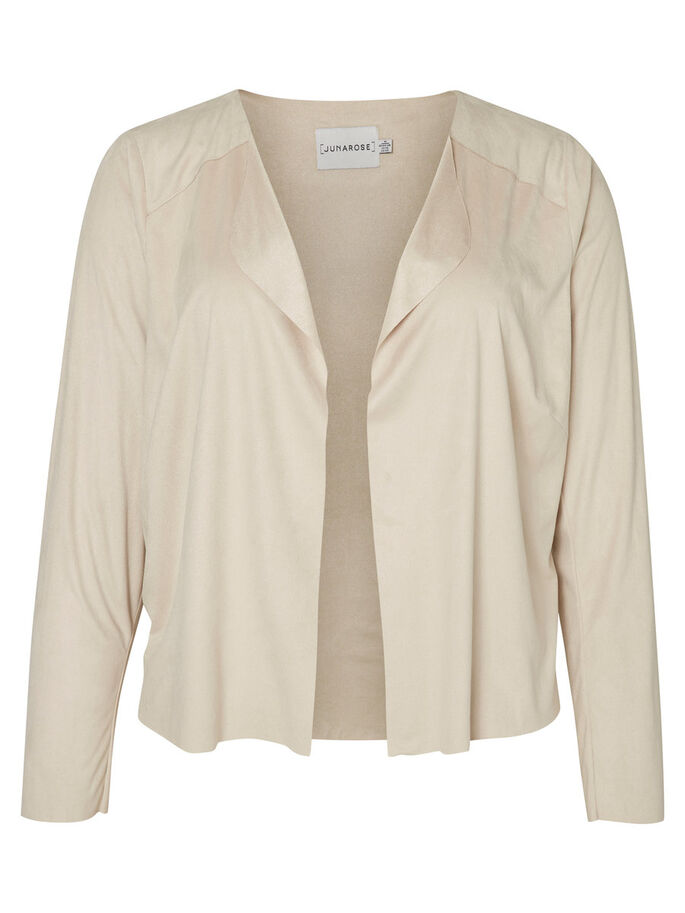 SUEDE JACKET, Tan, large