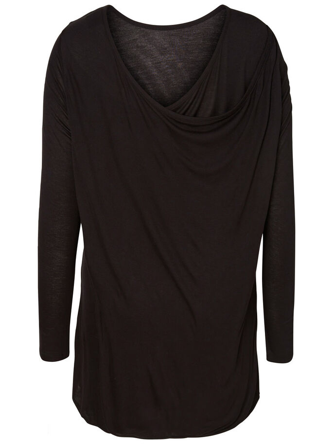 LANGERMET BLUSE, Black, large