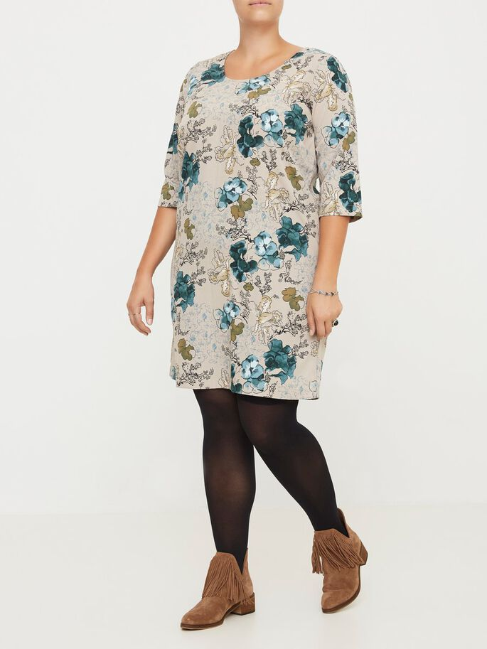 3/4 SLEEVED DRESS, Moon Rock, large