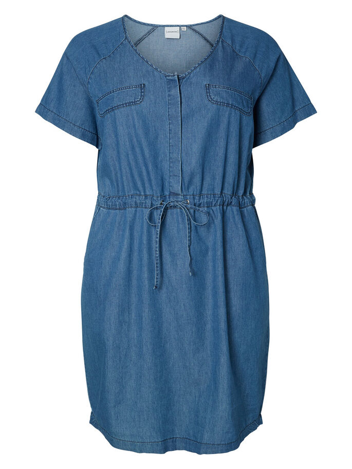 JEANS- KLEID, Medium Blue Denim, large
