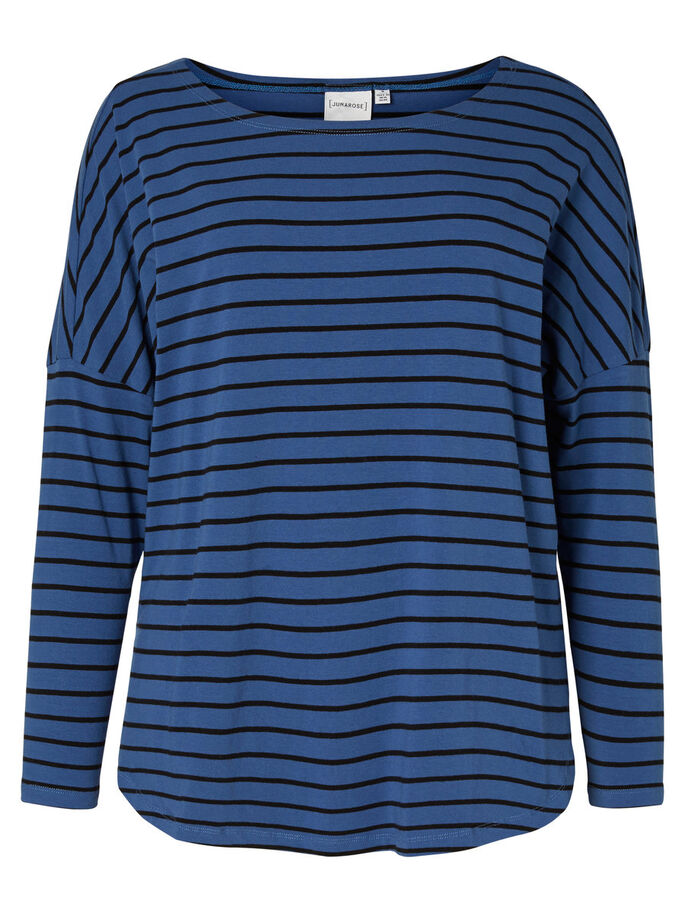 LANGÆRMET BLUSE, True Navy, large