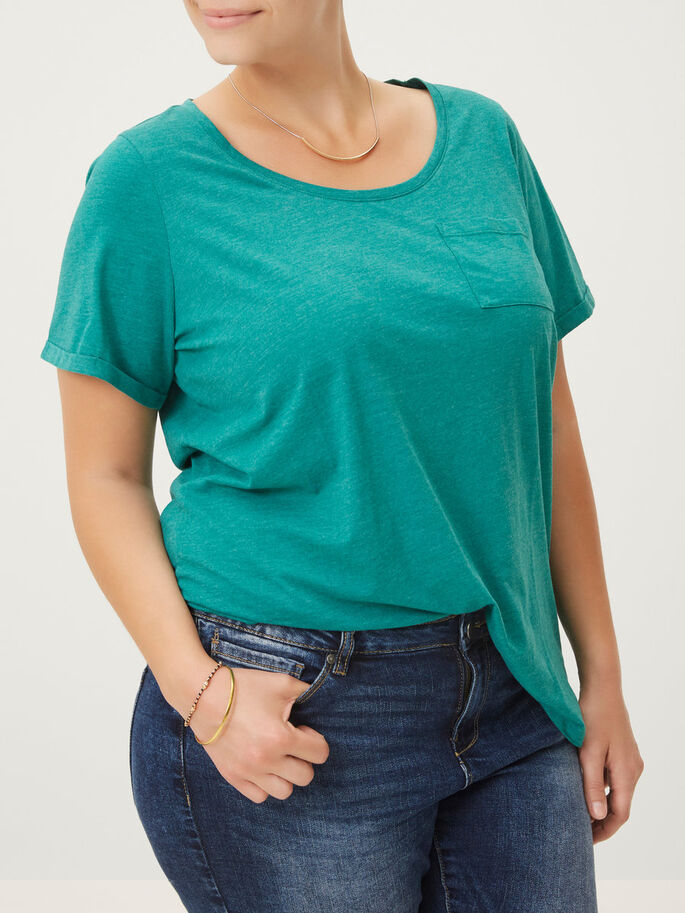 SHORT SLEEVED BLOUSE, Cadmium Green, large