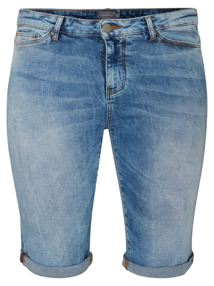 SLIM SHORTS, Medium Blue Denim, large